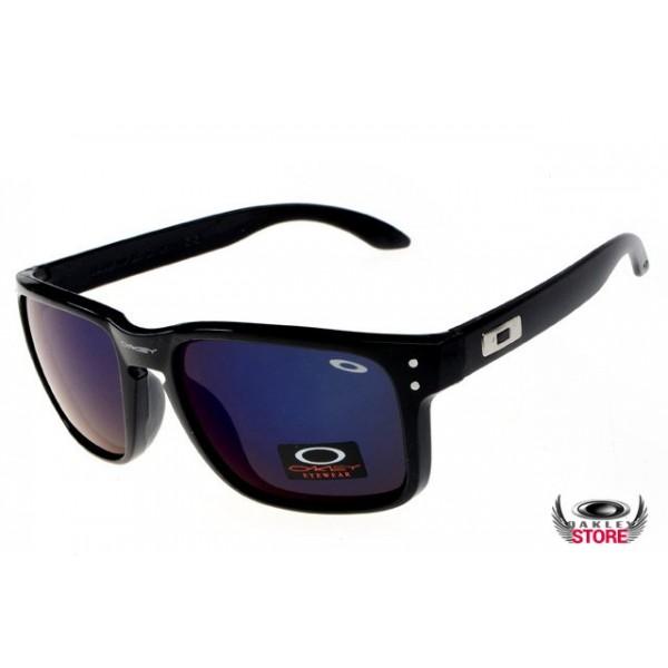 a512f655ca discount Oakley Holbrook Black Frame Ice iridium lens